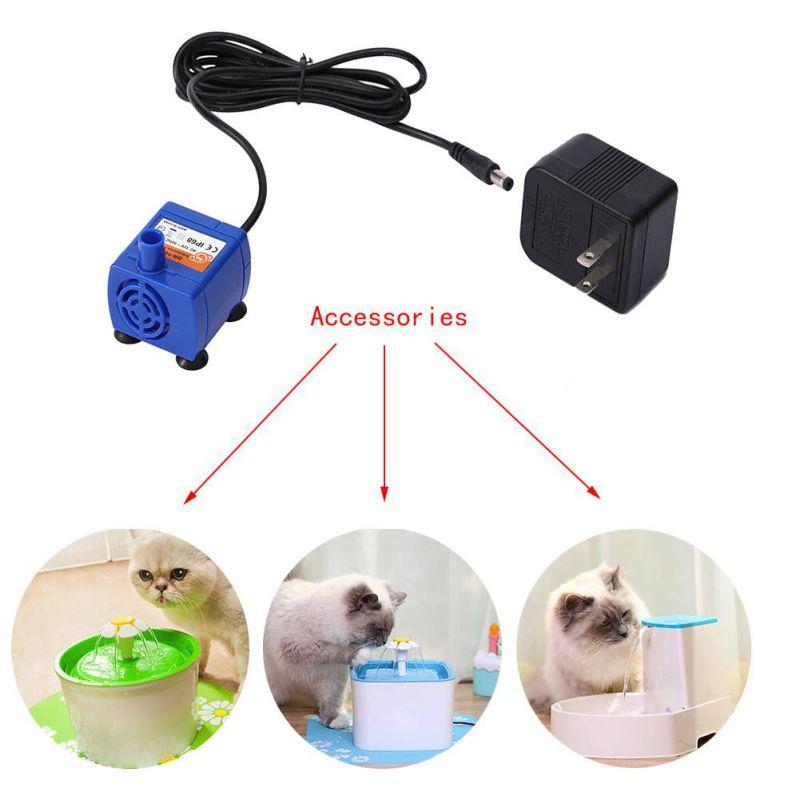 Bomba automática de fuente de agua para gato mascota gato perro reemplazo fuente de agua eléctrica bomba silenciosa adaptador de corriente US/EU/UK Plug