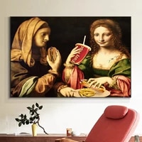 spoof maria wall art canvas painting portrait famous oil painting posters and prints wall pictures for living room home decor