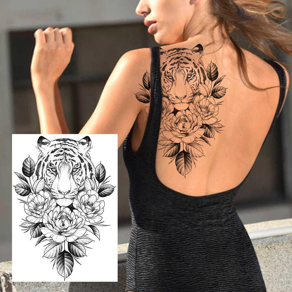 Sexy Flower Temporary Tattoos For Women Body Art Painting Arm Legs Tattoos Sticker Realistic Fake Black Rose Waterproof Tattoos Temporary Tattoos Aliexpress