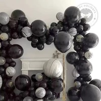 5 36inch big black balloon latex balloons birthday party decoration wedding party coming of age ceremony articles balloon decor