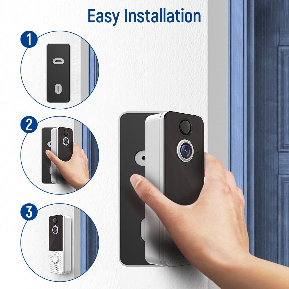 2021EKEN T8 Video Intercom Doorbell Wifi 1080p Wireless Intercom Door Bell Security Motion Sensor For Apartment Home Smart House enlarge