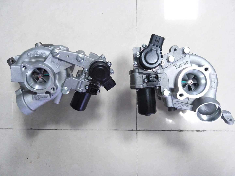 Rhv4 turbo twin 17201-51021 17201-51020 17208-51011 17208-51010 turbocompressor para toyota land cruiser 1vd motor dois pces