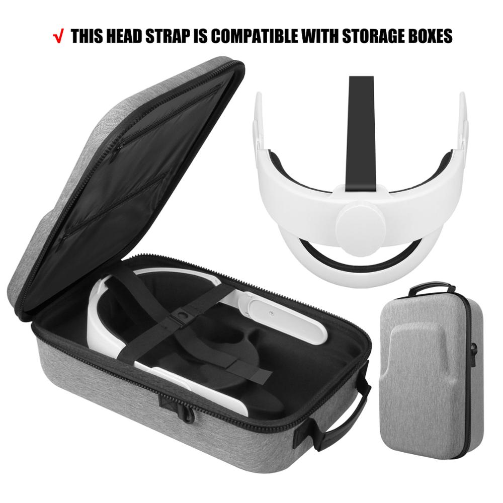 5in1 NEW K3 Elite Head Strap Comfort Foam Pad+Hard EVA Travel Carry Case Bag for Oculus Quest 2 VR T