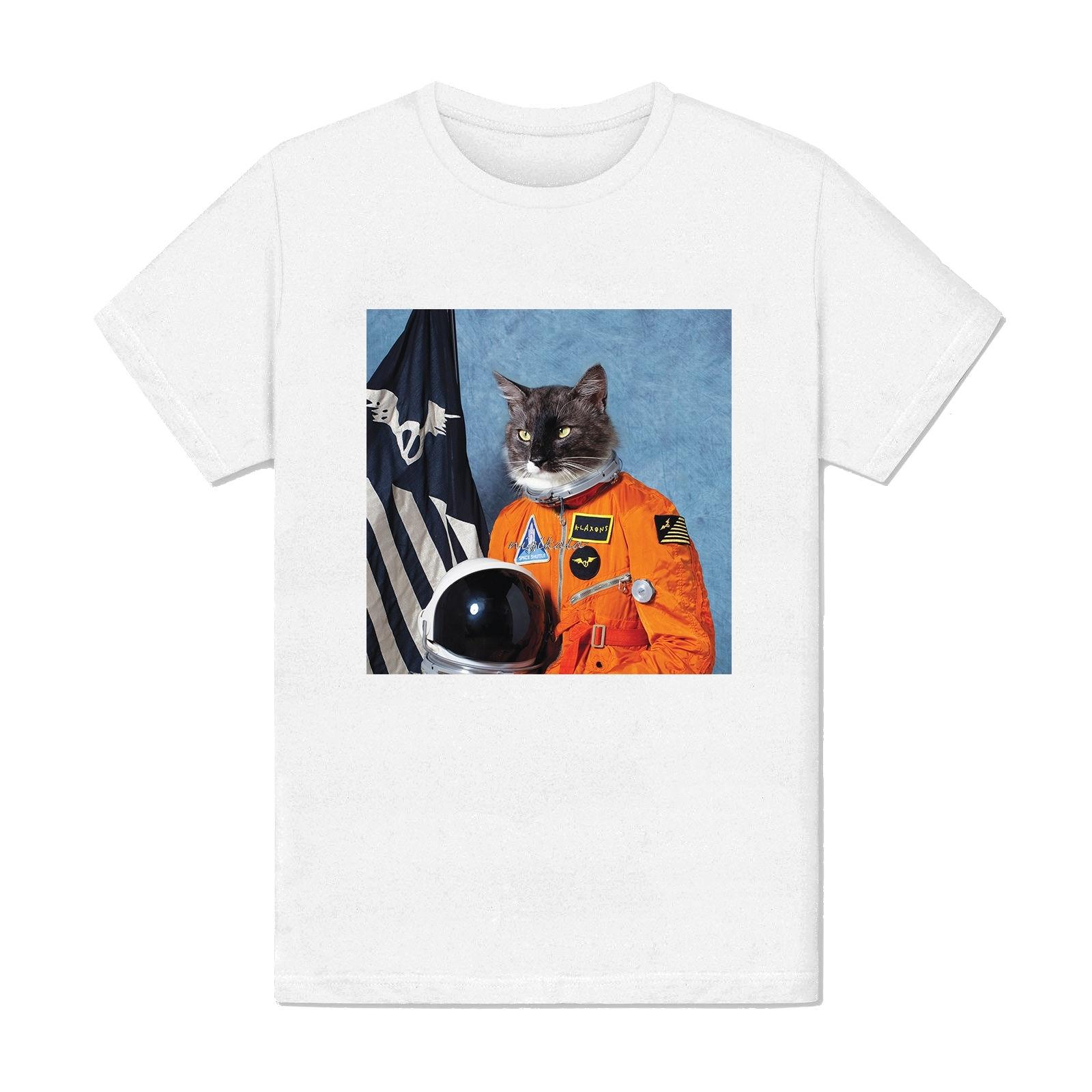 Camiseta Homme - Chat Espace Amant Astronaute Amerique a-mode Francia nueva moda para hombres Camiseta de manga corta para hombre