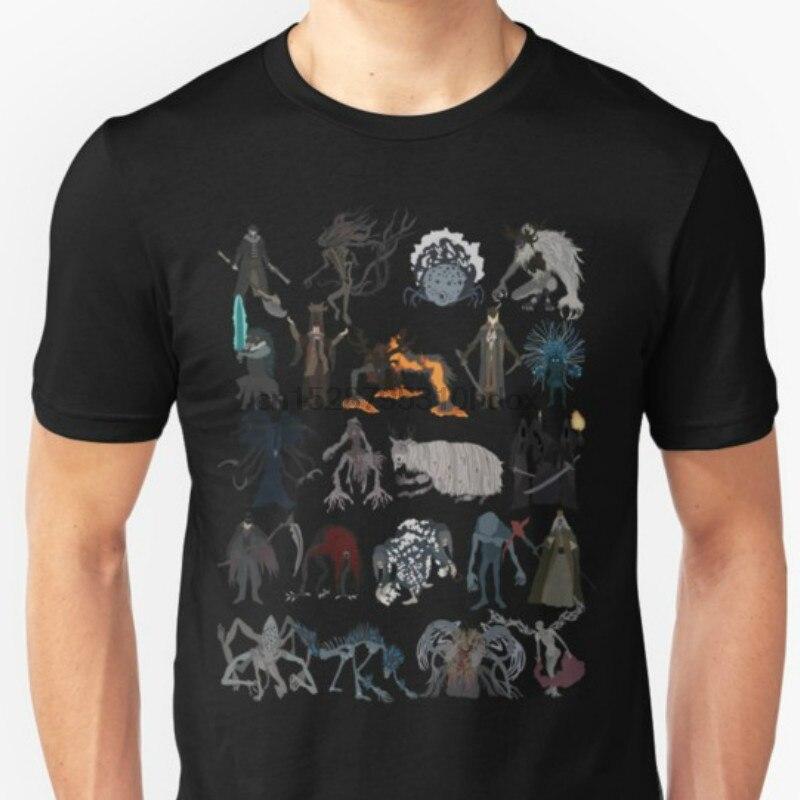 Moda Cool hombres camiseta mujer divertida camiseta Bloodborne jefes estampados personalizados camiseta
