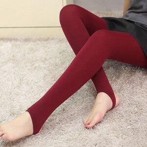 Women's Winter Warm Plush tights Plush Pants Slim Fit Leggings Panty Panties High Waist Large Elastic solid color  Thermal Pants