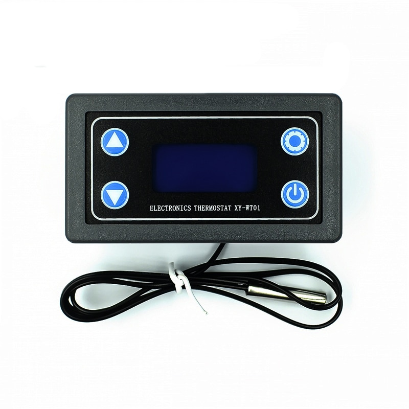 Linha de ponta controle de temperatura digital display led termostato com instrumento de controle de calor/refrigeração XY-WT01 0-30v