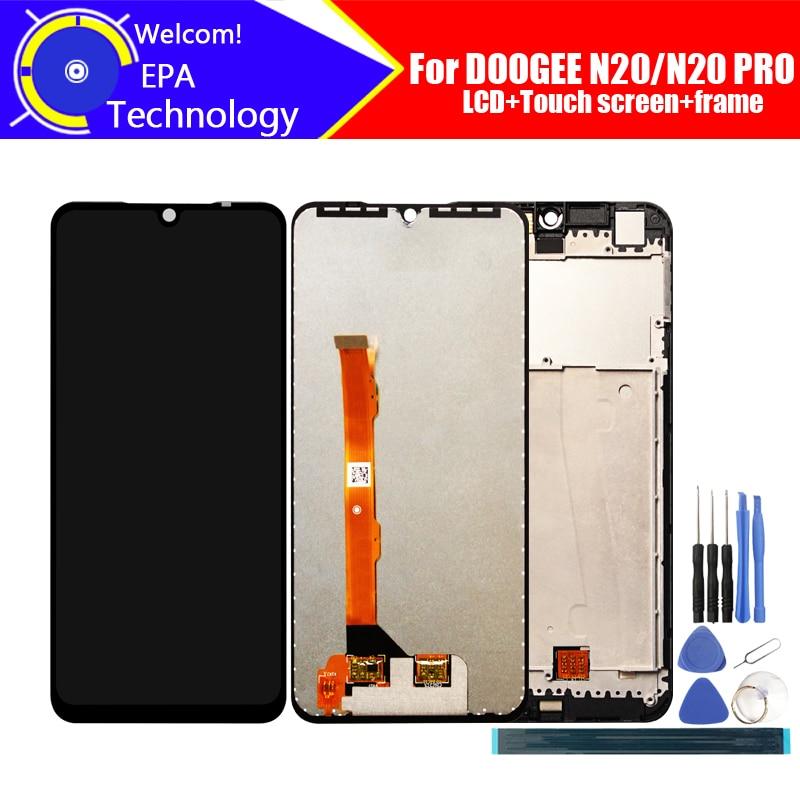 ЖК-дисплей Doogee N20 6,3 дюйма с кодирующий преобразователь сенсорного экрана в сборе, 100% оригинальный ЖК-дисплей с сенсорным дигитайзером для N20...