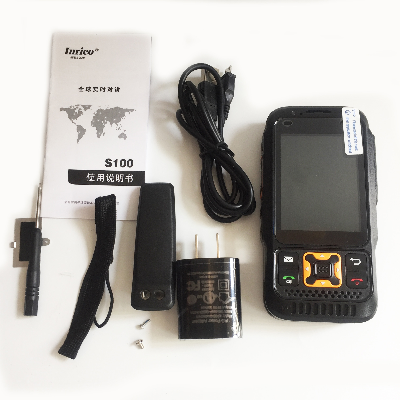 Inrico S100 Dual Band Zello Radio 4G LTE Network Poc Radio GPS WIFi Bluetooth SOS Flashlight Android Mobile Phone Walkie Talkie enlarge