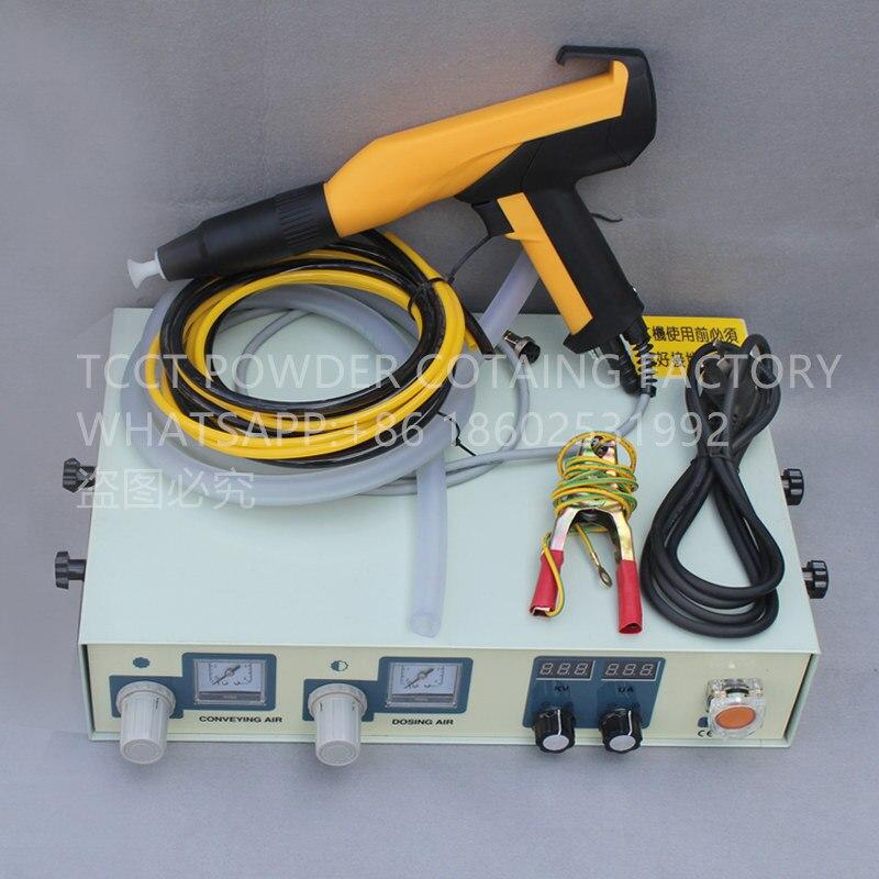 digital electrostatic powder coating machine with manual powder coating spray gun