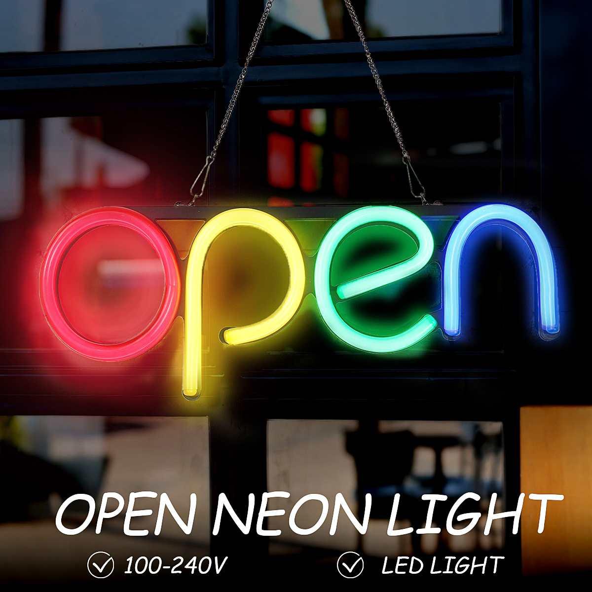 مصباح نيون LED مفتوح ، زخرفة جدارية ، عمل فني مرئي يدوي ، بار ، حانة ، نادي