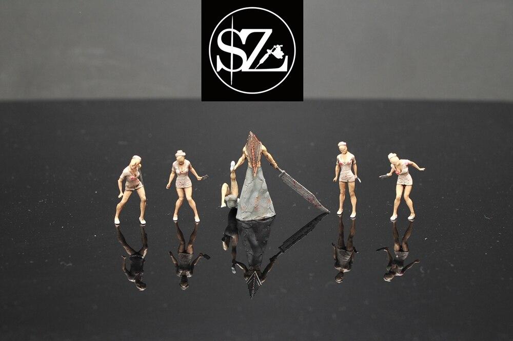 164 échelle résine moulage sous pression modèle jeu personnage zombie infirmière série modèle scène mise en page collection jouet