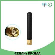 10pcs 433MHz Antenna 2.5dbi RP-SMA Connector Plug 433 mhz directional antena waterproof antenne for Lorawan watermeter Gasmeter