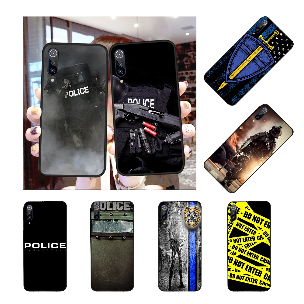 NBDRUICAI Police Symbol DIY Luxury Phone Case for Redmi Note 8 8A 7 6 6A 5 5A 4 4X 4A Go Pro Plus Prime
