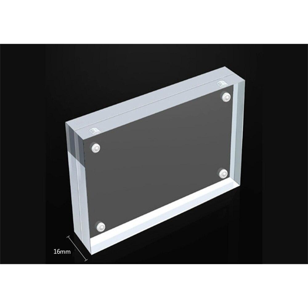 Сильная Магнитная акриловая рамка для меню и списка карт, прозрачная яркая подставка для плаката