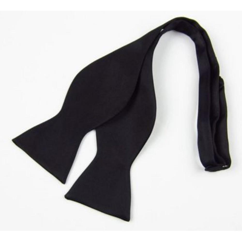 Mens Silk Satin Plain Solid Black Bow Tie Formal Wedding Bowtie Necktie Ties Gentle Italian Satin Solid Color Fashion Bow Ties недорого