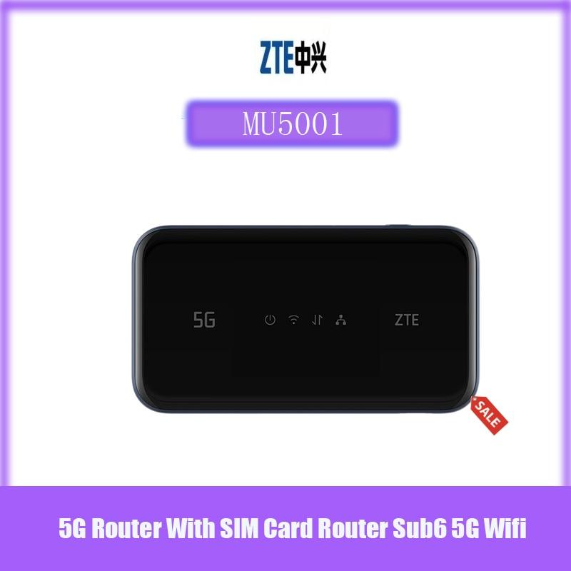الأصلي والجديد 5G واي فاي برو ZTE MU500 MU5001 موبايل هوت سبوت Sub6G شبكات 2.4 بوصة شاشة ملونة تعمل باللمس تصل إلى 30 جهاز