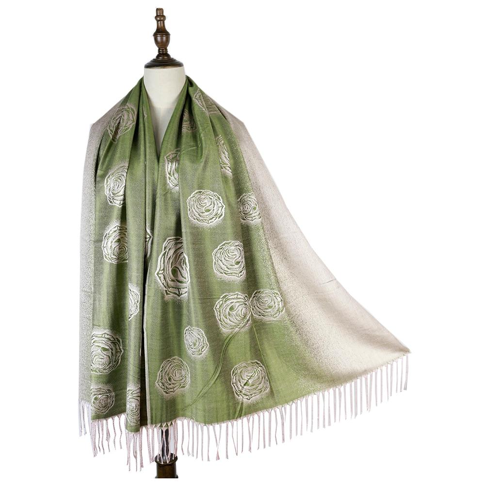 Châlets dhiver femmes pashmina   Foulard cachemire rose hijabs enveloppe, cadeaux pour maman femme etole mujer roupas femininas inverno