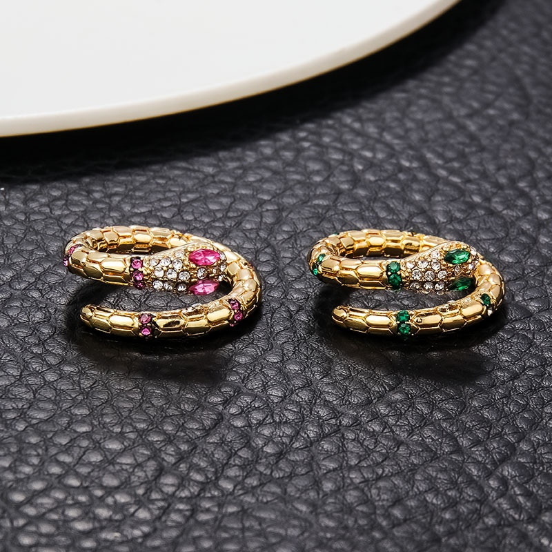 Retro punk cobra anéis para mulher personalidade abertura ajustável anel vintage animal jóias