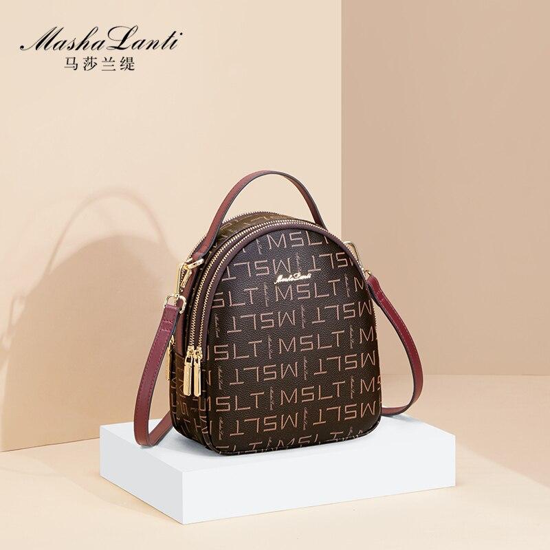 Mashalanti mini backpack female luxury 2021 famous brand designer women's shoulder backpack bag casual small backpack for women