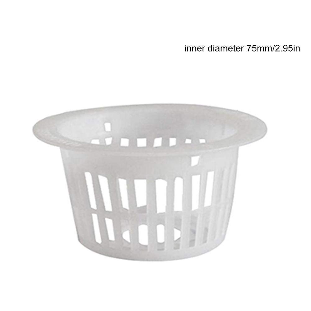 Maceta de malla blanca, cesta para vaso con malla, hidropónica, planta de sistema aeropónico, cultivo de semillas de clonación de verduras verdes orgánicas, germinación