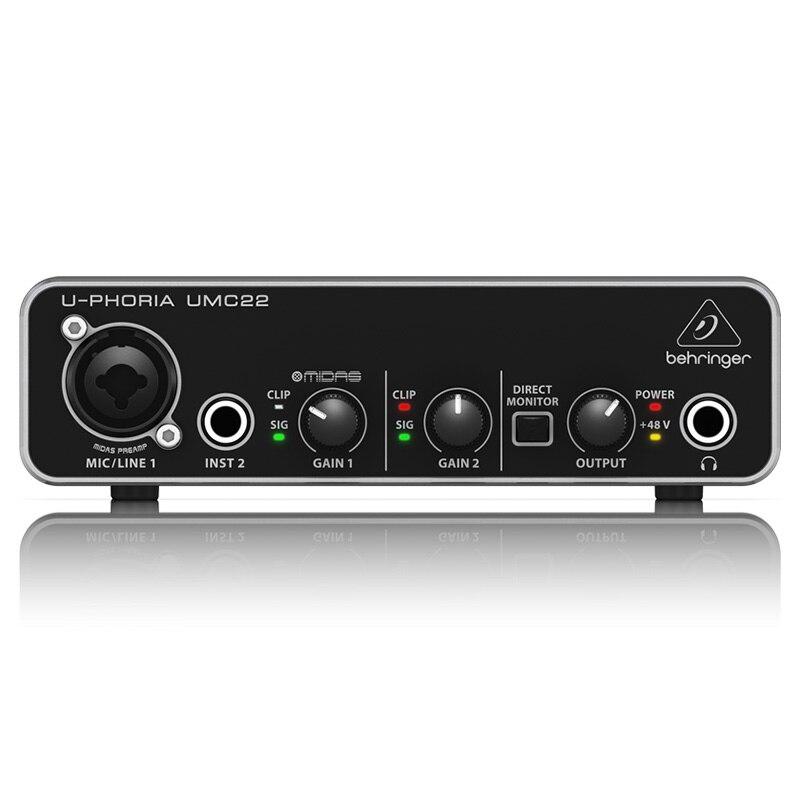BEHRINGER umc22 audio interface microphone Headphone Amplifier sound card enlarge
