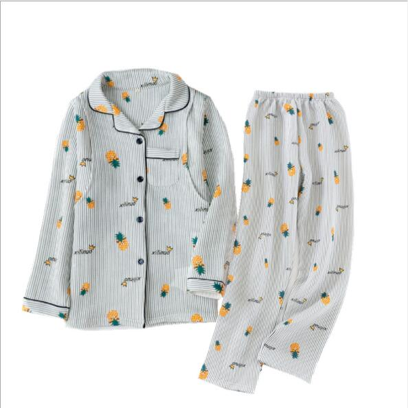 Autumn Winter New Long Sleeve Cotton Maternity Pajamas Nursing Sleepwear Pregnant Pijama Breastfeeding Nightwear Fdfklak enlarge