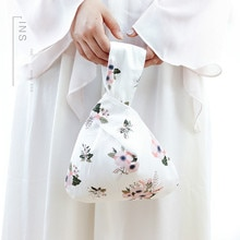 Alasir Eco-friendly Japanese-style Women Hand Bags Cotton Wrist Bag Small  Floral Casual Bags Sumer Mini Cute Girl Phone Purse