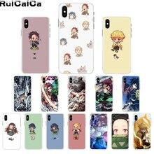 RuiCaiCa Demon Slayer Kimetsu No Yaiba DIY печать рисунок чехол для телефона для iPhone 8 7 6 6S Plus X XS MAX 5 5S SE XR 11 11pro