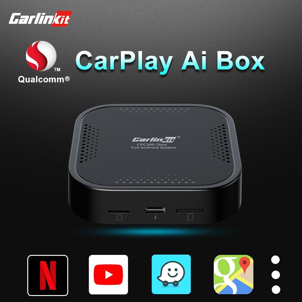 لاسلكي Carplay Ai صندوق أندرويد 9.0 أندرويد أوتو دُنجل لاسلكي لتحديد المواقع المدمج في سيارة ذكية محول الوسائط المتعددة لراديو CarPlay OEM