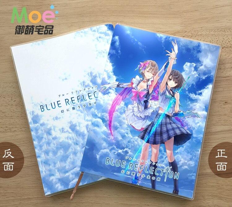 Блокнот из аниме синий отражающий для студентов, блокнот для письма, блокнот с деликатной защитой глаз, фотоальбом, подарок