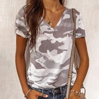 european and american summer 2021 new fashion slim hedging leopard print v neck short sleeved top t shirt womens clothing