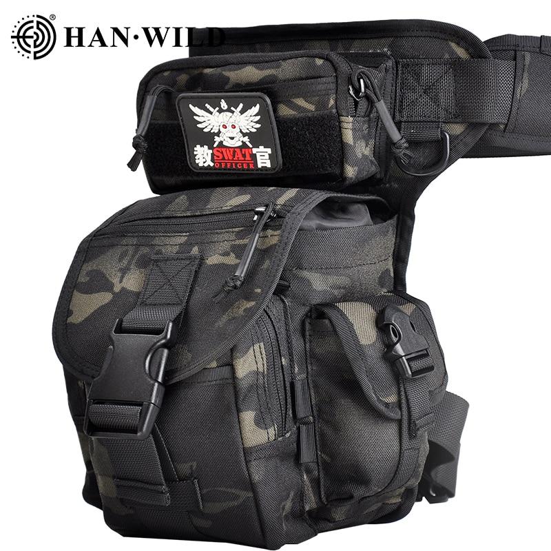 Travel Belt Bag Hiking Hunting Tool Fanny Camping Cycling Leg Bag Military 1000D Nylon Waterproof Men Tactical Waist Pack Leg