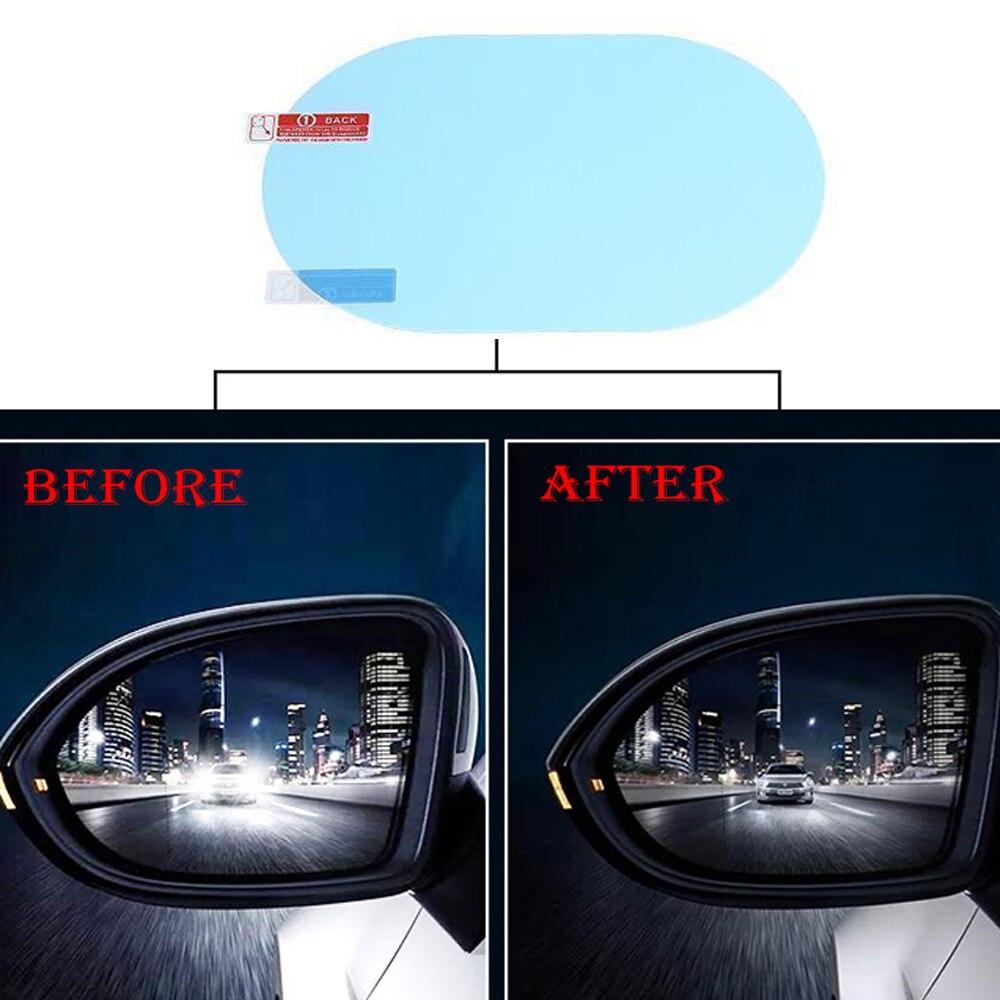 Автомобильная противотуманная наклейка, 2 шт./компл., автомобильная зеркальная прозрачная пленка, автомобильная фотопленка заднего вида, зе...
