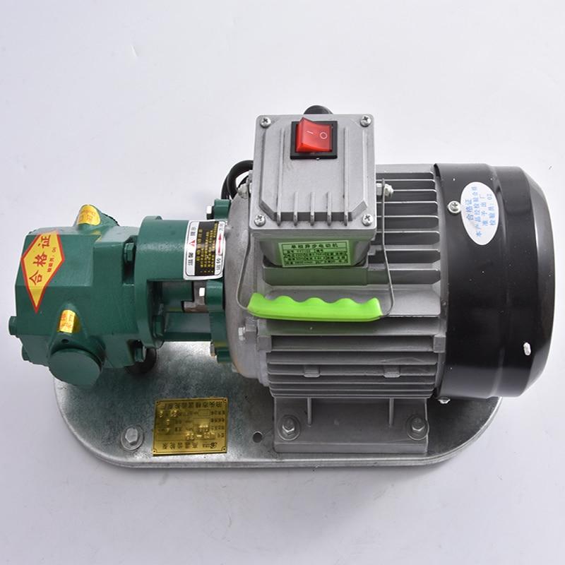 12v 24v 220v gearbox oil changer pump oil gear oil pump WCB-75 Self-Priming Gear Oil Pump Portable Cast Iron High Temperature Electric Gear Pump 750W Small High Viscosity Oil Pump 220V