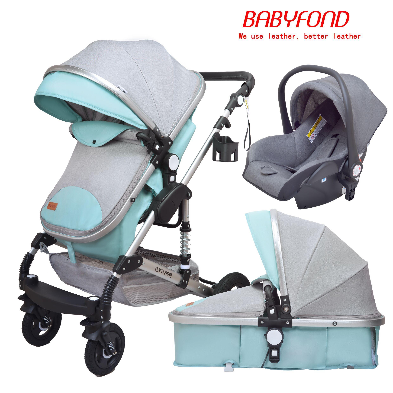Фото - Многофункциональная детская коляска 3 в 1, коляска для новорожденных с высоким ландшафтом, детская коляска, удобная коляска для детей, подар... коляска