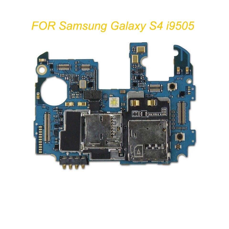 Placa base de teléfono oficial desbloqueado 100% Original probado para Samsung Galaxy S4 i9505 16GB con Chips placa lógica
