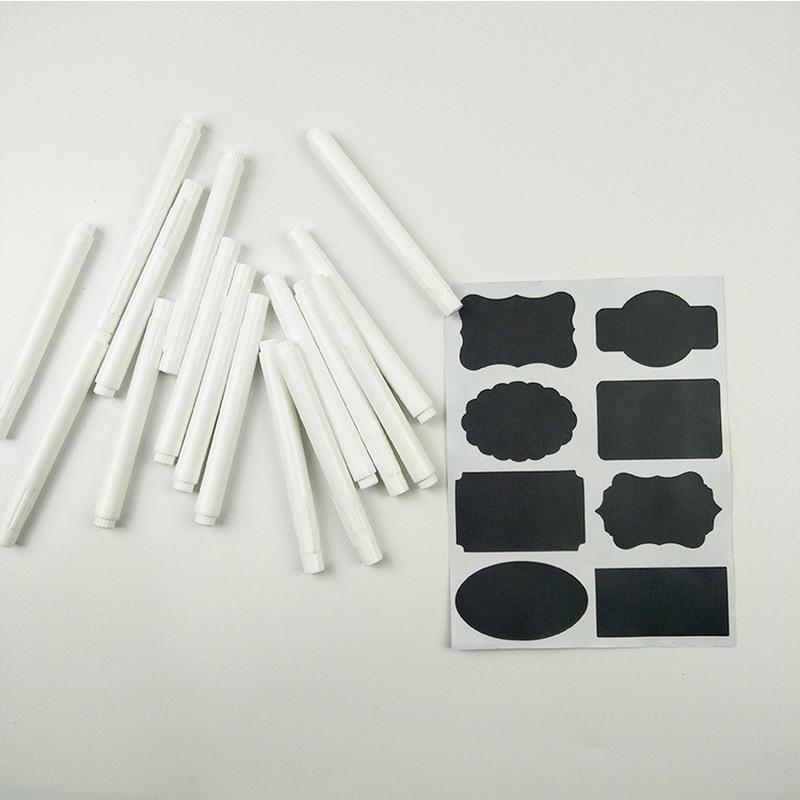 4 Uds. Bolígrafos de tiza líquida blanca para ventanas de cristal pizarra pegatina práctico extraíble plumas de marca Kawaii papelería