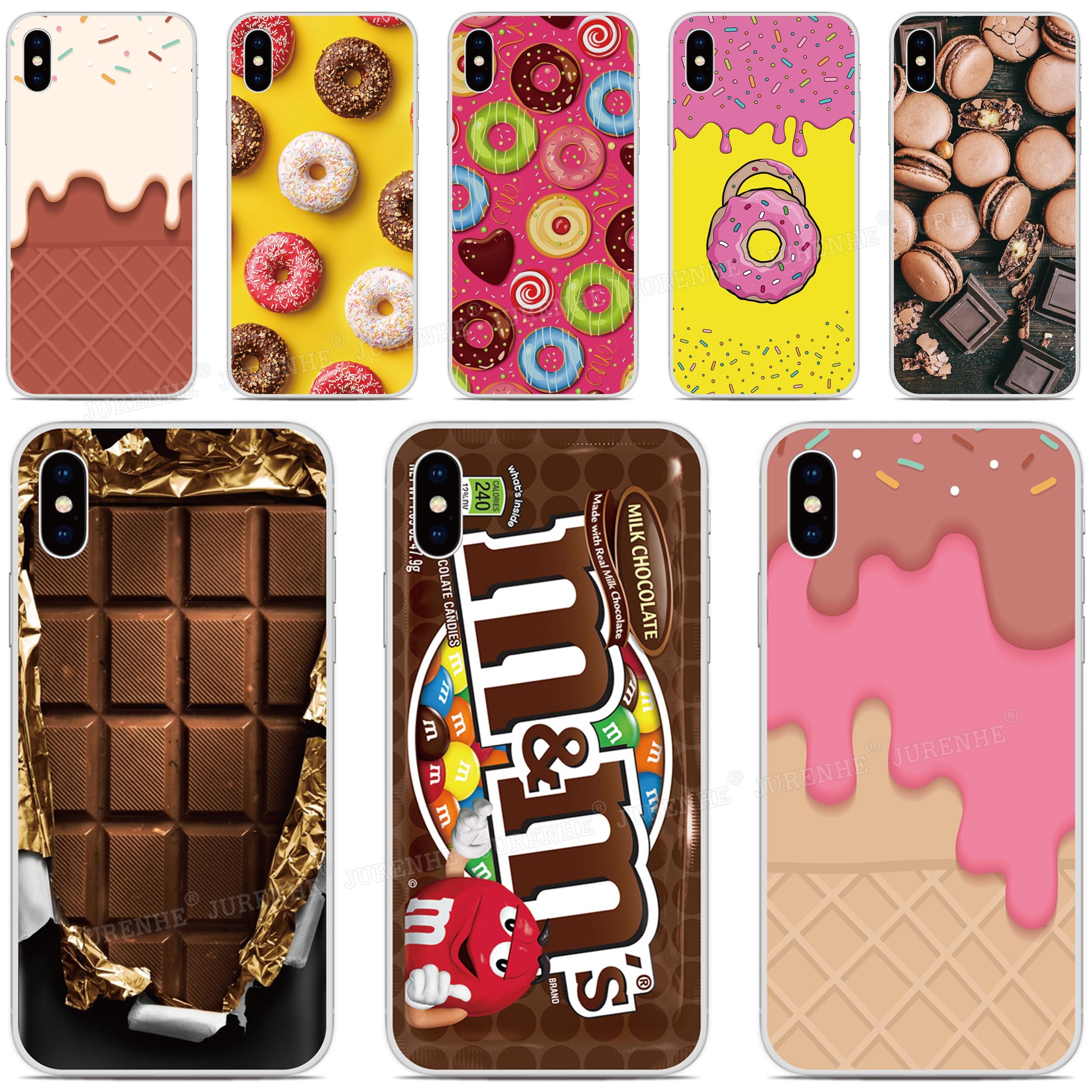 Funda de teléfono con forma de Donut de Chocolate para BQ Aquaris X2 X Pro U U2 Lite V X5 E5 M5 E5s C VS Vsmart JOY Active 1 Plus 5035 5059