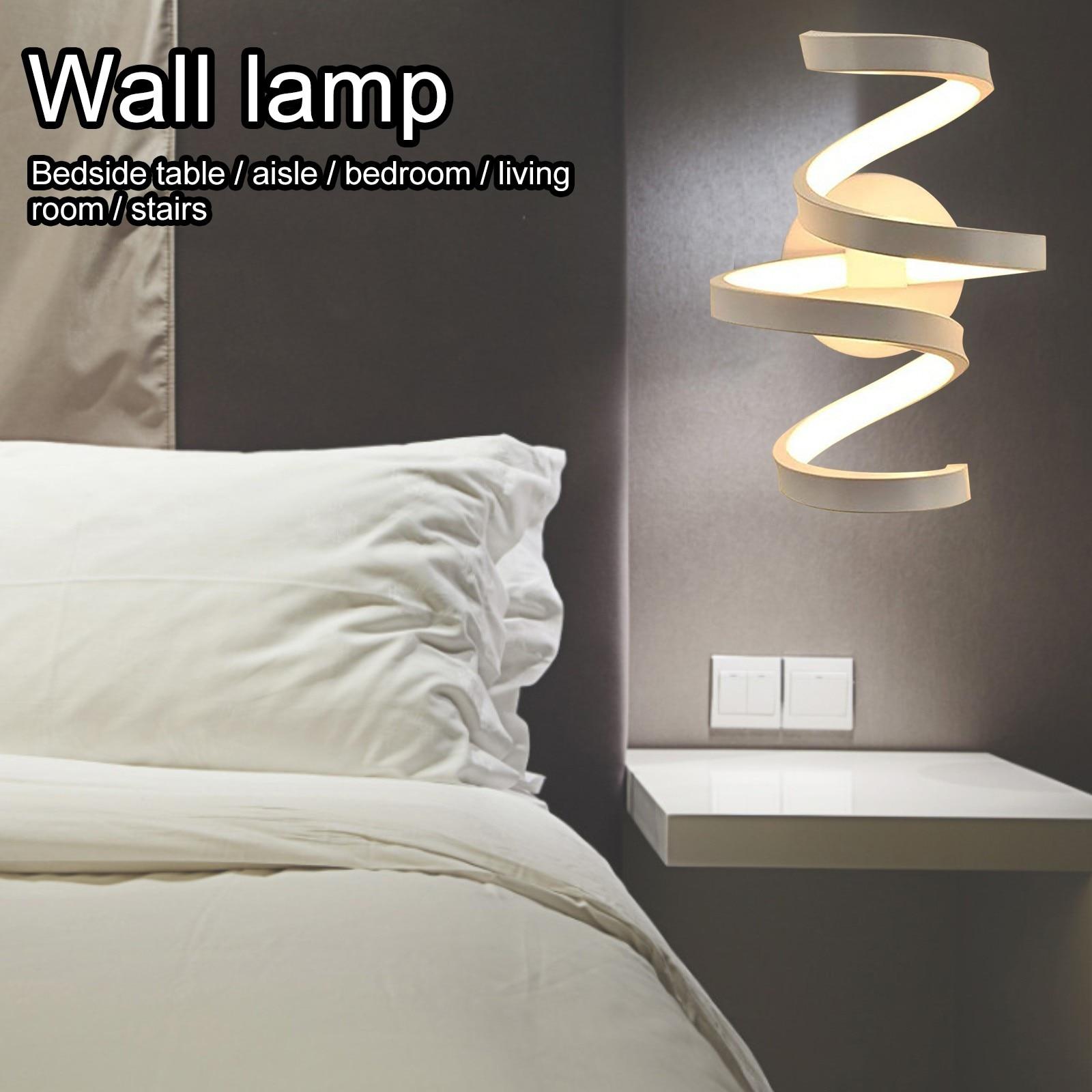 LED ليلة ضوء البساطة نوم الجدار مصباح السرير مكتب موضة وحدة إضاءة LED جداريّة مصباح الممر الدرج الإبداع نوم ديكور المنزل