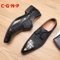 c%c2%b7g%c2%b7n%c2%b7p designer fashion genuine leather pointed toe formal shoes men italian lace up dress shoes luxury mens wedding shoes
