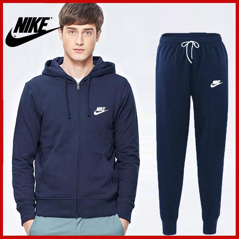 ¡Novedad! Chándal Nike para hombre, sudadera con capucha y pantalones de chándal, jersey para hombre para correr, traje deportivo 3XL 2NE21