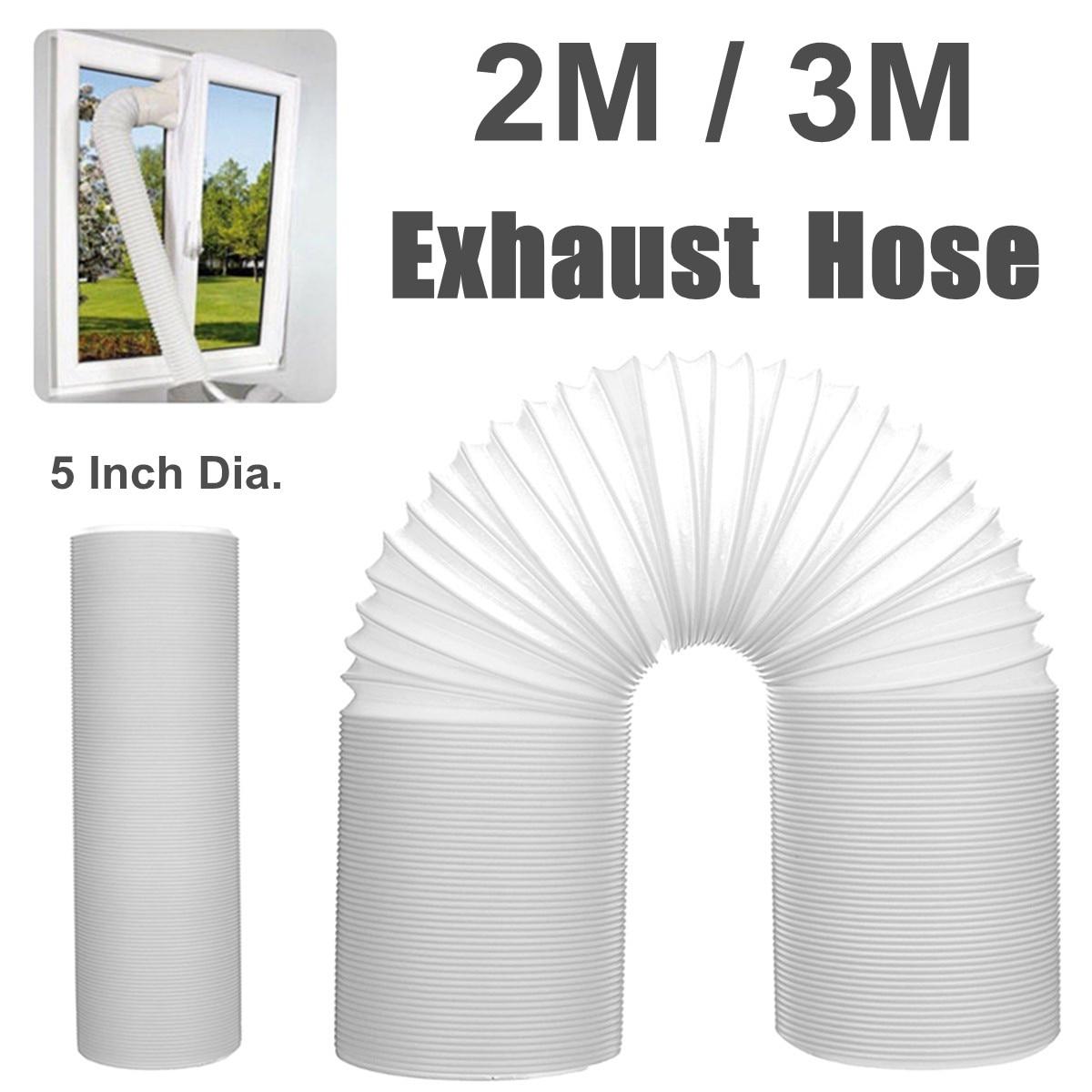 Tubo de manguera de aluminio de 3/2M, accesorios de cocina, tubo de Escape en línea, ventilador respiradero, mangueras, tubo de ventilación de 130mm de diámetro