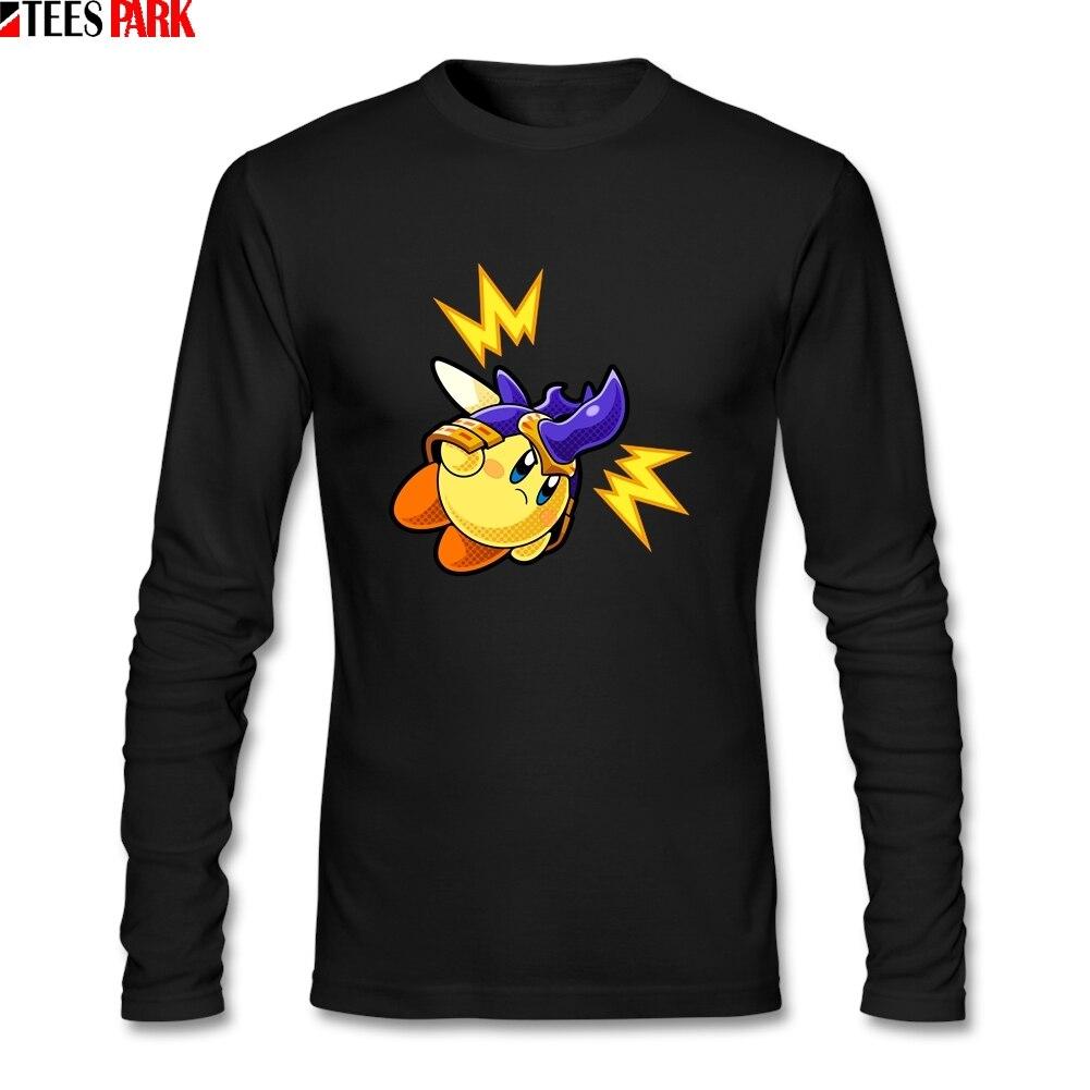 Camiseta Retro de Kirby de cuello redondo para hombres, Camiseta de gran Camiseta para adultos con estampado abstracto de manga larga, camisetas para hombre, precio de venta, ropa oficial