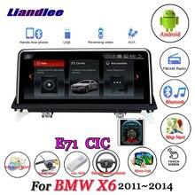 Pour BMW X6 E71 2011-2014 Original CIC système voiture Android 10.0 lecteur multimédia Carplay Androidauto GPS Navigation écran HD