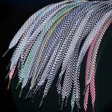 1 paire 120cm baskets fluorescentes chaussures Sport lacets réfléchissants Glat corde chaussures dentelle lacets légers