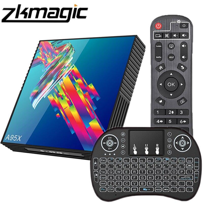 Android 9,0 Smart TV Box A95X R3 Rockchip 4GB RAM 64GB ROM 2.4/5,0G Dual WiFi set-top-Box 4K 1080P Google Youtube Media Player