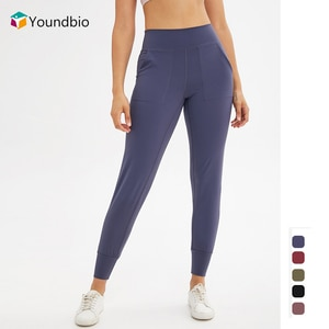 YOUNDBIO Seamless Women Sport Home Yoga Pants Gym Fitness Push Up Anti Cellulite Harem Pants Running Plus Size Home Tights