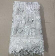 Venda quente 5 metros de alta qualidade swiss voile rendas na suíça para o casamento 100% algodão africano tecido renda n8836