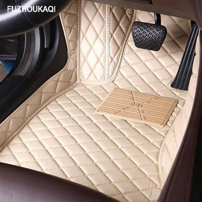 Esteiras do assoalho carro de couro para skoda todos os modelos octavia fabia rápido superb kodiaq yeti estilo do carro acessórios